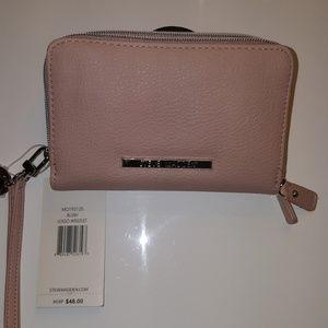 Steve Madden Pink Double Zipper Wallet Wristlet